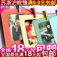Wholesale Korean DIY rope hanging paper frame inch color photo wall frame wall with a paper clip into the rope