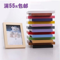 5 inch,6 inch,7 inch,8 inch,10 inch,12 i White,Pink,Brown,Black,Red,Multi,Yellow, Photo Frame Thickening solid wood photo frame picture frame 5 6 7 8 10 a4 12 16