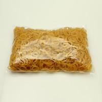 Wholesale 10mm Dog Grooming Bands Elastics Yellow Latex Rubber Good Elasticity