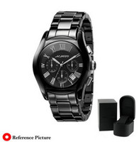 Men's ar rounds - Luxury brand quality movement Men s AR1400 ar Ceramic Black Chronograph Dial Watch AAA watch