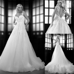 Bien Savvy Spring 2014 One Love Bridal Collection New Sweetheart Tulle Applique Ruffles A-Line Wedding Dresses Capped Backless Wedding Dress