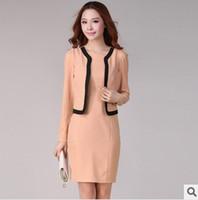 2014 Fashion Women Dress suit formal office wear for woman Long sleeve