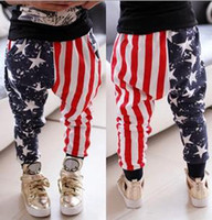 america flag stars - Brand New Children s Casual Pants Baby Boy Girl Pants Long Striped Star America US Flag Printed Trousers Leisure Girls Boys Pant