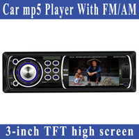 MP4/MP5 Players Yes Black Freeshipping 12V 3-inch TFT Car mp5 player with FM AM Car Audio Receiver support USB,SD,MMC card Radio aux-in remote control