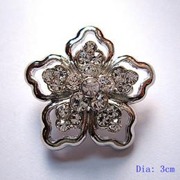 Dark Silver Clear Rhinestone Small Flower Crystal vintage Brooch Pins