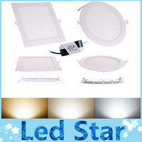 No led panel light - 9W W W W W CREE LED Panel lights Recessed lamp Round Square Led lights for indoor lights V Led Driver