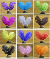 Wholesale cm Inch mix colored ostrich feathers plumage flapper dresses for craft making bulk sale