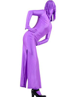 Wholesale Hot Sale Halloween Costume Purple Two Piece Lycra Spandex Zentai Suit With Dress And Pants superman r88 u12 H5