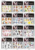 Wholesale Water Transfer Temporary Body Sticker Cartoon Fake Vinyl Tattoo Araneid Scorpion Palm Feet Beard