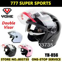 half face helmet - Hot Sales Yohe YH856 Double Visors Motorbike Helmet Racing Motorcycle Helmets Dirt Bike Half Face Helmet Capacete Casco