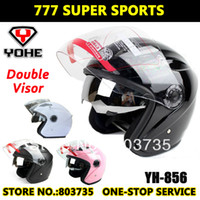 Wholesale Yohe YH856 Double Visors Motorbike Helmet Racing Motorcycle Helmets Dirt Bike Half Face Helmet Capacete Casco