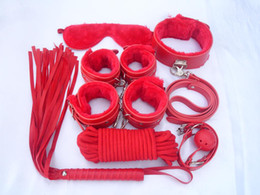 Best Value Bondage Gear Pack Kit System 7 Pieces Red Cheap Price Wholesale Worldwide Faux Leather 7 pcs Three Colors Red Pink Black