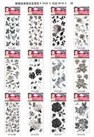 Every Day hand and foot - 120Pcs Water Transfer Temporary Tattoo Fake Vinyl Body Sticker Black And White Tiger Flower Variety Designs Random Mixture