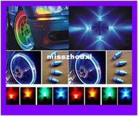 Wholesale 1000pcs pairs Led Tyre auto Wheel light Tire Valve Caps Covers Neon Sensor bulbs Lamps for Bike Car Truck Motorcycle