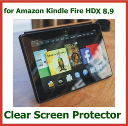 10pcs Customized Transparent Clear Screen Protector for Amazon Kindle Fire HDX 8.9 inch Protective Guard Film