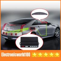 Wholesale Car LED Parking Reverse Backup Radar System with Backlight Display Sensors colors Free Via DHL