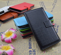 For Samsung Leather Wholesale colorful grid book wallet credit card slots stand flip leather case cover skin shell for Galaxy Mega 5.8 i9152 i9150 fashion flip cover