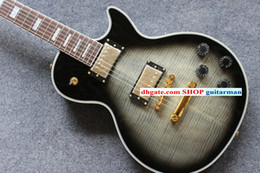 NEW Custom Black gray Flame Electric Guitar OEM Electric Guitar free shipping China Guitar Factory New Style