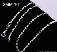 Wholesale fashion jewelry inch mm Rolo sterling silver Chain necklace
