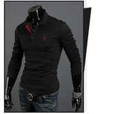 Men Cotton Polo Mens Casual Premium Slim Fit Stylish Long Sleeves Polo Shirts Tops T-Shirt New