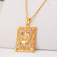 Wholesale Fashion Allah Pendant Jewelry Items K Real Gold Plated Rhinestone Islamic Necklaces amp Pendants For Women Or Men VP329