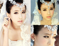 Wholesale Explosion models pearl bridal jewelry bridal headdress alloy diamond wedding accessories frontlet