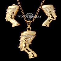 Bracelet,Earrings & Necklace Women's Jewelry Sets Hot Sale Trendy 18K Gold Plated CZ Rhinestone Necklace And Earrings Jewelry Set Fashion African Jewelry For Women Dress S3144