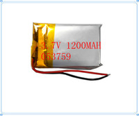 Cheap 5 pcs 3.7V 1200 mAh Rechargeable Polymer Lithium battery for GPS Bluetooth Headset Mp3 Mp4 Mobiles Backup power Supply 053759