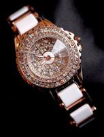 Casual Women's Quartz-Battery hot women diamond ceramic white watch Japan quartz movement lady watches luxury sport