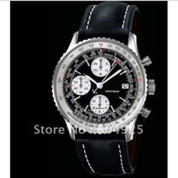 Wholesale 2014 Brand watches Luxury wrist watch men black leather watch