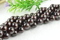 Wholesale Garnet Gemstone Round Beads mm mm Semi precious stone loose beads For DIY Fashion Jewelry Making strands per