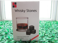 Wholesale 100 Natural Whiskey Stone Whiskey Rocks Set in Gift Box W Christmas Valentine s Father s business gift