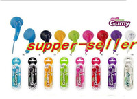 Wired Cell Phones 3.5mm Gumy HA F150 earphone 8Colors MP3 DJ Earphone No MIC Colorful OEM For iphone ipad ipod DHL FREE