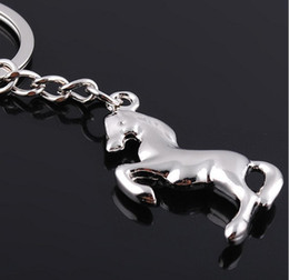 Wholesale 10pcs NEW Fashion Cute horse style Stainless alloy steel key chain keychains best gift GX