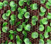 Wholesale Wedding Decoration Artificial Begonia Climbing Vine Green Leaf Plants Home Decor Plastic Vines