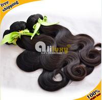 Wholesale Body wave Mongolian virgin hair Queen hair Extension A grade Cheap hair Natural b inches