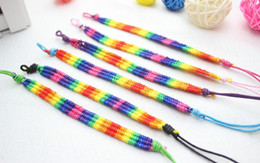Colorful nylon handmade braided custom rope bracelet