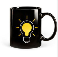 Wholesale The new bulb color temperature change color mug cup gift ideas personalized gifts light bulb Cup