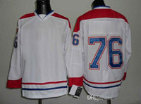 Ice Hockey Men Full Canadiens Subban 76 White Winter Hockey Jerseys High Quality Outdoor Apparel Cheap Ice Hockey Wears Mens 2014 New Collection Mix Order