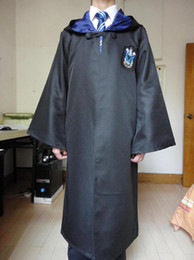 Wholesale Nice New Harry Potter Youth Adult School Robe Cloak Ravenclaw Cosplay Costume