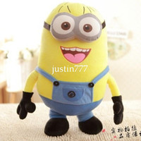 Wholesale 3D Eye Despicable Me Minions Stuffed Dolls Plush Toy Kids toys Baby Gifts Birthday Gifts holiday gifts Christmas gifts inches