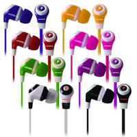 Wholesale 3 mm Super Bass Stereo In Ear Beat Earbud Headphone Earphone Headset for Apple iPhone iPod colors WZRZHEJ009