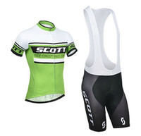 Wholesale 2014 Scott Cycling Jersey clothing Cycling Bib Shorts Sets green scott Cycling bicycle bike Clothing Cycling Bib Shorts Sets