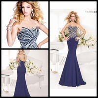 Reference Images beaded swirl - 2014 Fetching Scoop Neck Tank Sleeveless Swirling Beaded Sheath Evening Dresses See Through Back Long Navy Blue Party Dresses