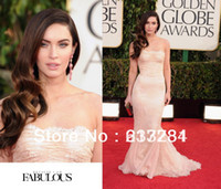 Reference Images 70th-13 Yes 2014 70th Golden Globe Awards Red Carpet Megan Fox Prom Dress Lace Mermaid Strapless Celebrity Dresses