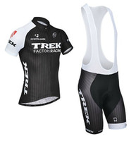 Wholesale 2014 trek Cycling clothing Cycling Bib Shorts Sets Black Trek Cycling bicycle bike jersey Cycling bib Shorts Sets spring