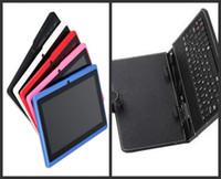 Wholesale 7 Inch A23 Dual Core Tablet PC With USB Keyboard Case Android Allwinner A23 Ghz MB RAM GB WIFI Dual Camera MID Colors VIA DHL