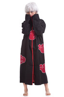 Unisex adult naruto costumes - Japan Naruto Akatsuki Cloak Anime Cosplay Costume Adult Halloween