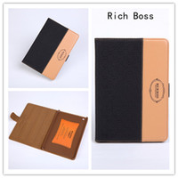 Wholesale Rich Boss Business Case Magnetic Ipad Smart Cover Holster Leather Protection Table for ipad air PU Cases CAN SLeep Wake Up Business Case