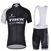 Wholesale 2014 TREKCycling Jersey And Bib Shorts Mens Summer Short Sleeves Ciclismo Shirt Set TREK Cycling Clothing Black